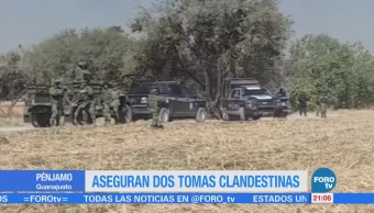 Aseguran dos tomas clandestinas en Pénjamo, Guanajuato