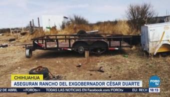Aseguran Rancho Ex Gobernador Chihuahua César Duarte