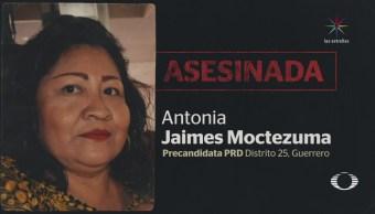 Asesinan a tiros a precandidata del PRD en Chilapa