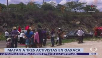 Asesinan a tres activistas de DDHH en Miahuatlán, Oaxaca