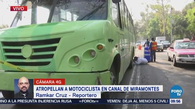 Atropellan a motociclista en Canal de Miramontes, CDMX