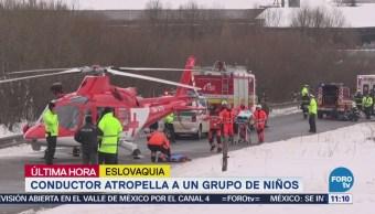 Automovilista Atropella Grupo Niños Eslovaquia
