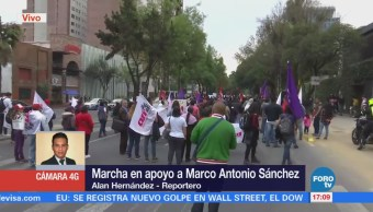 Avanza marcha de apoyo al joven Marco Antonio Sánchez
