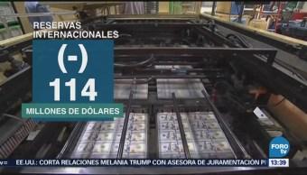 Banxico Reporta Disminución Reservas Internacionales
