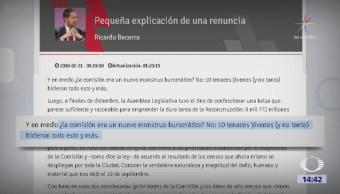 Becerra defiende labor de la Comisión para la reconstrucción de la CDMX