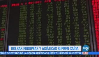 Bolsas asiáticas y europeas se desploman arrastradas por Dow Jones