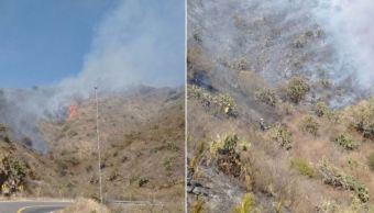 Bomberos combaten incendios forestales en León, Guanajuato