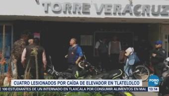 Cae Elevador Desde Piso 15 Edificio Veracruz Tlatelolco Cdmx