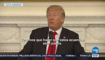 Casa Blanca Busca Pactar Tratados Comerciales Justos Recíprocos Donald Trump