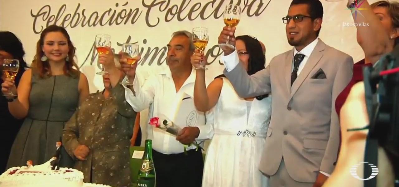 Celebran el 14 de febrero con bodas masivas