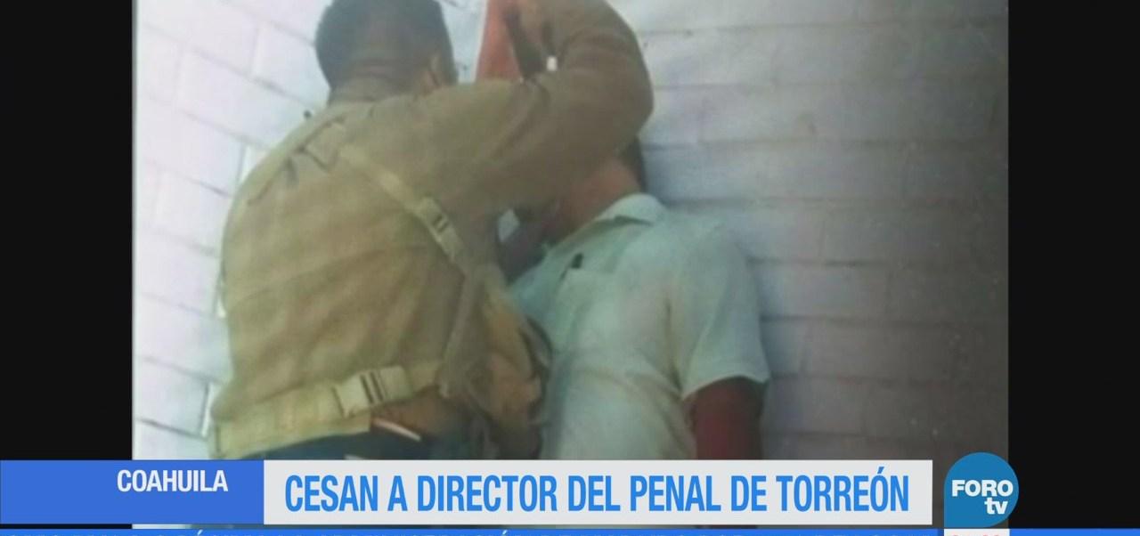 Cesan director de penal Torreón por amenazar con arma a funcionario