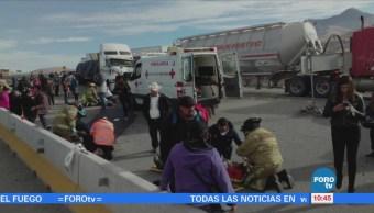 Choque múltiple deja 27 lesionados en Guanajuato
