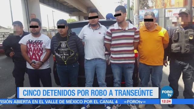 Cinco Detenidos Robo Transeúnte Cdmx