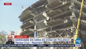 Circulación afectada en Ejército Nacional por derrumbe en edificio