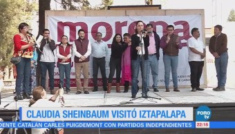 Claudia Sheinbaum visitó Iztapalapa