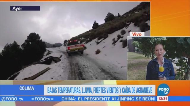 Colima registra lluvia, viento y aguanieve
