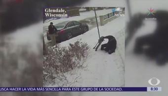 Conductor de autobús ayuda a anciano en Milwaukee
