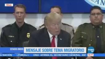 Congreso Eu Tienen Reformar Sistema Migratorio Señala Trump