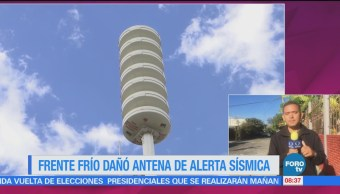 Continúan Trabajos Reparar Antena Alerta Sísmica Oaxaca