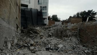 Concluye demolición del edificio colapsado en Álvaro Obregón 284 tras sismo