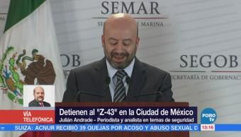 Detención Z43 Ayudará Contener Violencia México Julián Andrade