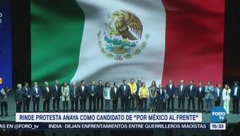 Anaya Rinde Protesta Candidato Por México Frente