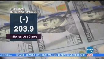 Disminuyen las reservas internacionales, informa el Banco de México