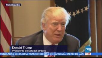 Donald Trump aplaude presupuesto para el Ejército