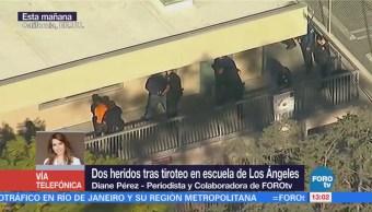 Dos heridos tras tiroteo en escuela de Los Ángeles