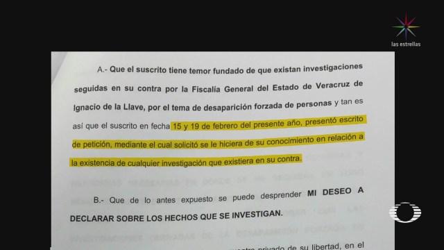 Duarte pide a PGR declarar por desapariciones forzadas en Veracruz