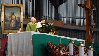 Cardenal Aguiar Retes da su primera misa en la Basílica
