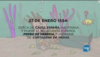Día Naufraga Navegante Español Pedro Heredia