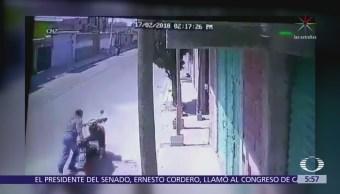 Empuja motocicleta y se la roba en Chalco, Edomex