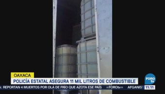 En diferentes operativo, Policía de Oaxaca decomisa gasolina robada