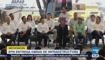 Epn Entrega Tramo Carretero Michoacán