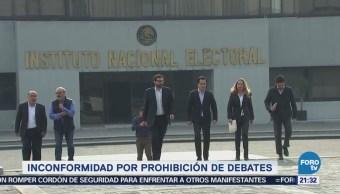 Equipo de Meade presenta dos inconformidades ante el INE por debates
