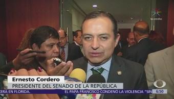 Ernesto Cordero califica como 'pancho' de Anaya, la denuncia de espionaje