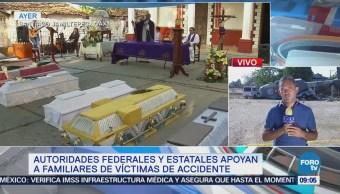 Domingo Continúa Entierro Víctimas Helicóptero Militar Jamiltepec