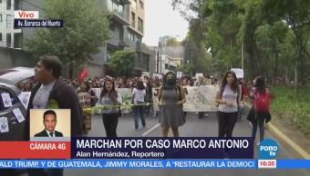 Estudiantes marchan por el caso de Marco Antonio Sánchez