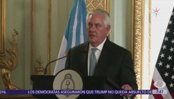EU considera aplicar restricciones al petróleo de Venezuela, dice Tillerson