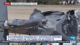 Expertos Realizan Trabajos Donde Cayó Helicóptero Oaxaca
