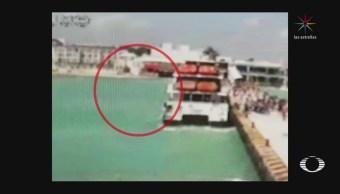 Explota ferry en Playa del Carmen de empresa ligada a Borge