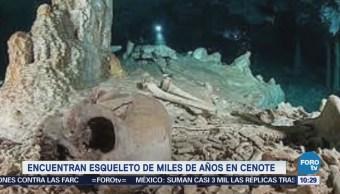 Extra Extra: Encuentran esqueleto de miles de años en cenote
