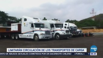 Extra Extra: Limitarán circulación de los trasportes de carga