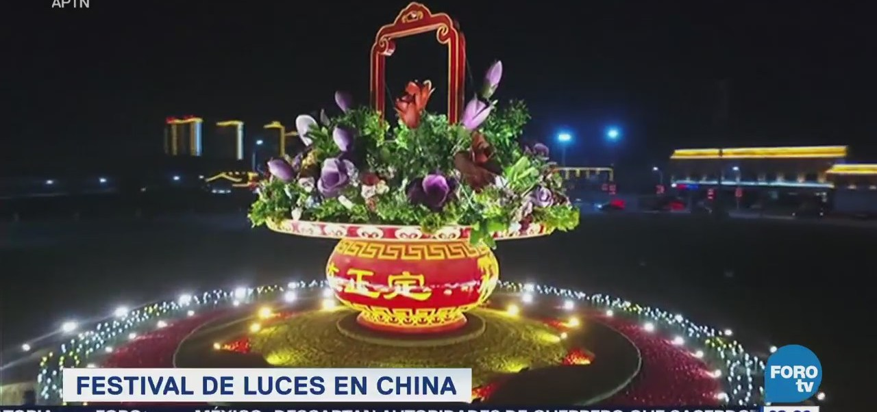 Extra Extra: Reciben el Año Nuevo Chino con luces de colores