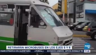 Extra Extra: Retirarán microbuses en los ejes 5 y 6