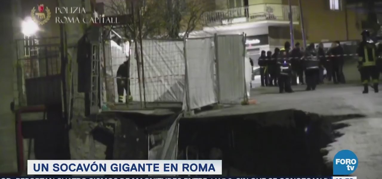 Extra Extra: Un socavón gigante en Roma