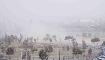 Fuertes vientos en Ciudad Juárez por frente frío