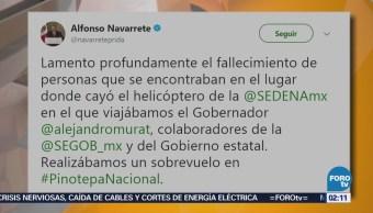 Funcionarios Expresan Condolencias Desplome Helicóptero Oaxaca