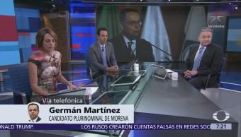 Germán Martínez, candidato plurinominal de Morena, habla en Despierta con Loret